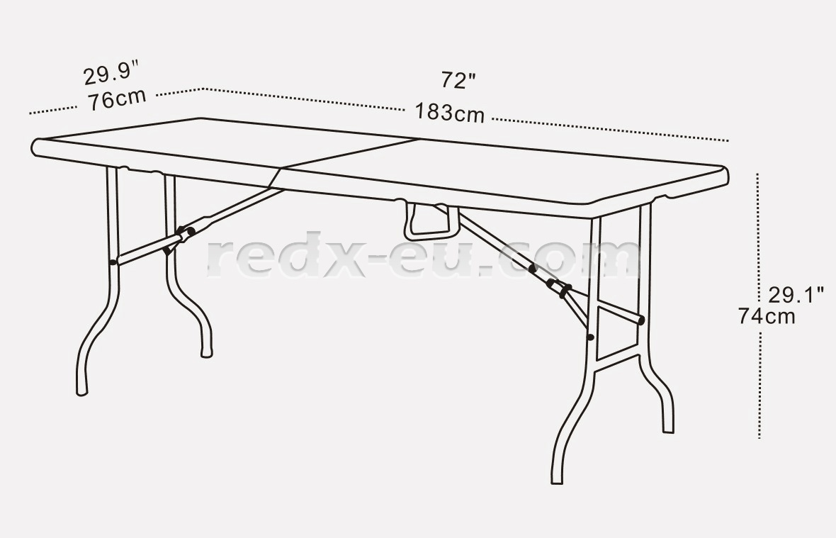 Event Furniture 6ft Event Table Folding Top Redx World