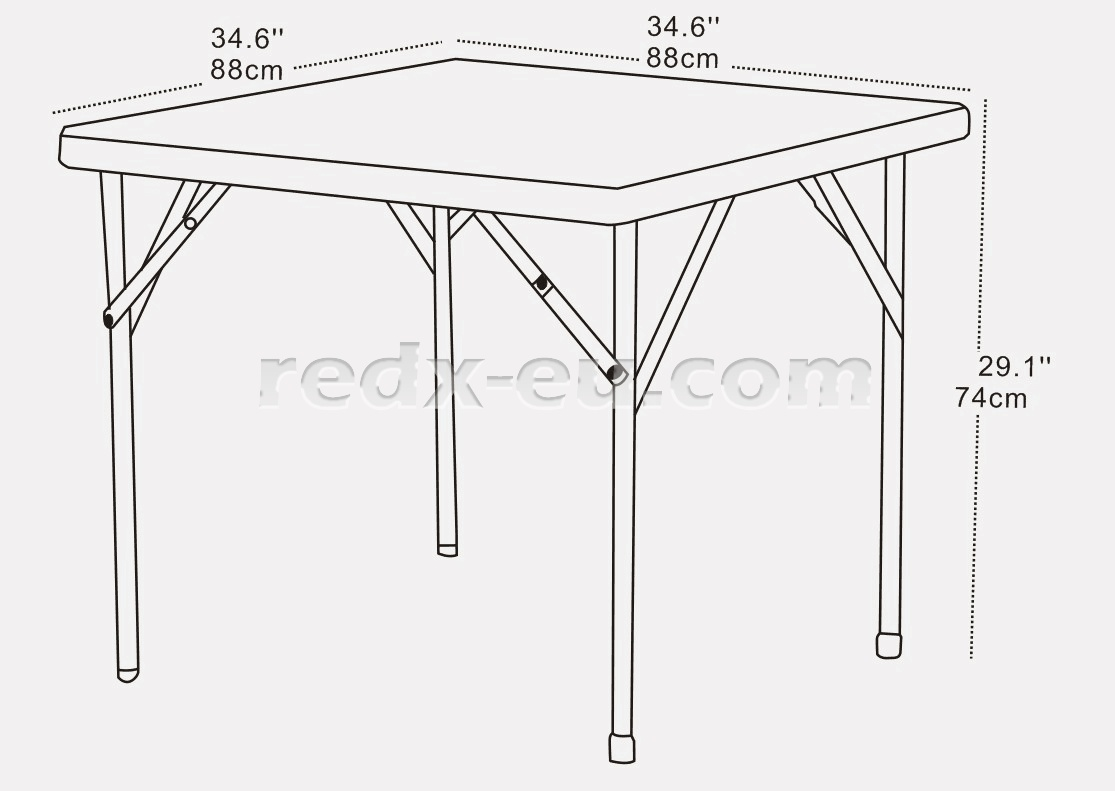 3ft Square Event Table